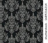 rococo texture pattern vector.... | Shutterstock .eps vector #1689216214
