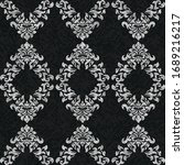 rococo texture pattern vector.... | Shutterstock .eps vector #1689216217