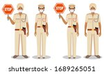 police and quarantine concept.... | Shutterstock .eps vector #1689265051
