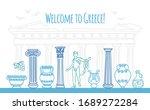 welcome to greece. vector...   Shutterstock .eps vector #1689272284
