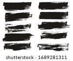 flat paint brush thin half... | Shutterstock .eps vector #1689281311