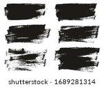 flat paint brush thin half... | Shutterstock .eps vector #1689281314