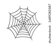 vector illustration of cobweb.... | Shutterstock .eps vector #1689283387