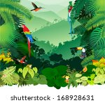 Vector Illustration Jungle...