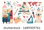 collection of scientists ... | Shutterstock .eps vector #1689305761