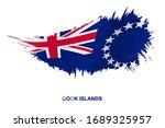 flag of cook islands in grunge... | Shutterstock .eps vector #1689325957
