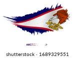 flag of american samoa in... | Shutterstock .eps vector #1689329551