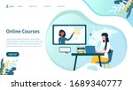 illustrated online courses... | Shutterstock .eps vector #1689340777