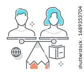 divorce related line vector...   Shutterstock .eps vector #1689353704