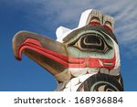 detail of totem pole in alaska. ... | Shutterstock . vector #168936884