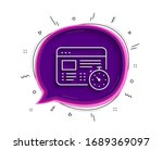 web timer line icon. chat...