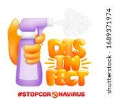 coronavirus sterilization with...   Shutterstock .eps vector #1689371974
