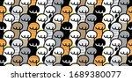 cat paw seamless pattern kitten ...   Shutterstock .eps vector #1689380077