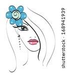 beautiful girl's doodle... | Shutterstock . vector #168941939