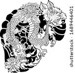 traditional chinese dragon for... | Shutterstock .eps vector #1689446401