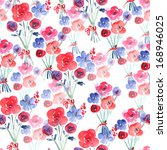 watercolor floral seamless... | Shutterstock . vector #168946025
