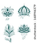 set of abstract persian or... | Shutterstock . vector #168946379