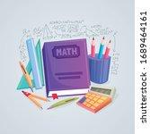 math lab and school class.... | Shutterstock .eps vector #1689464161