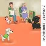 cute puppy goes into vet... | Shutterstock . vector #16894642