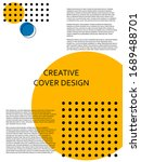 creative cover design with... | Shutterstock .eps vector #1689488701