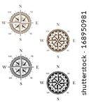 set of vintage compass signs... | Shutterstock . vector #168950981