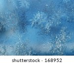 This is a montage of some shots of ice crystals on glass.