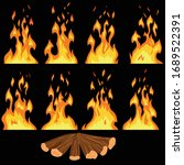 fire animation key frames with...   Shutterstock .eps vector #1689522391