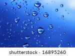 close-up of water drops background - stock photo