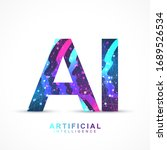 artificial intelligence logo... | Shutterstock .eps vector #1689526534