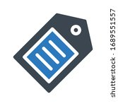 tag vector glyph color icon  | Shutterstock .eps vector #1689551557