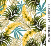 botanical seamless tropical... | Shutterstock .eps vector #1689554944