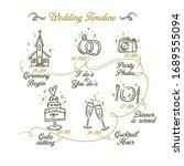 timeline menu on wedding theme... | Shutterstock .eps vector #1689555094