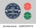 every christian is a counselor... | Shutterstock .eps vector #1689559474
