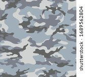 seamless blue camouflage... | Shutterstock .eps vector #1689562804