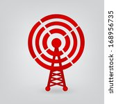 radio tower icon  | Shutterstock .eps vector #168956735