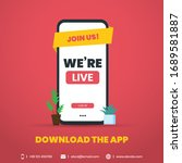 we are live vector template.... | Shutterstock .eps vector #1689581887