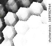 grunge halftone black and white ...   Shutterstock . vector #1689582964