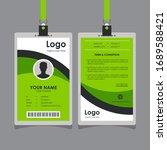 simple clean green black white... | Shutterstock .eps vector #1689588421