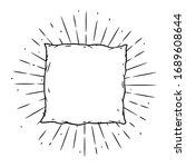 pillow. hand drawn vector... | Shutterstock .eps vector #1689608644