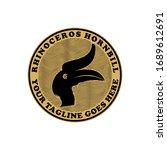 rhinoceros hornbill head vector ... | Shutterstock .eps vector #1689612691