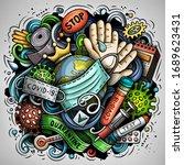 cartoon vector doodles... | Shutterstock .eps vector #1689623431