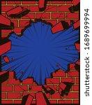 pop art comic book style hole...   Shutterstock .eps vector #1689699994