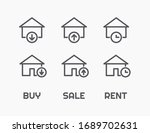 real estate icons. thin line...   Shutterstock .eps vector #1689702631