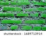 Background Of Mossy Brick Walls ...