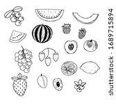 set of fruits  vector...   Shutterstock .eps vector #1689715894