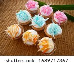 "Small photo of Thai Dessert ""Mas Goad"" is same Thai Cup Cake"