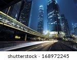 Small photo of traffic city night at hongkong,china