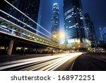 traffic city night  at hongkong ...   Shutterstock . vector #168972251