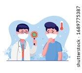 doctor wearing protective... | Shutterstock .eps vector #1689775387