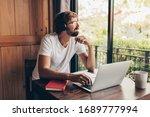 man using laptop   hands on... | Shutterstock . vector #1689777994